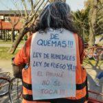 """""""Basta de quemas"""", el reclamo de las organizaciones ambientales de la zona."""