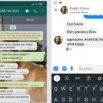 """El estafador pedía a los contactos de Facebook e Instagram que agregaran el """"nuevo número"""", con característica de Zárate."""