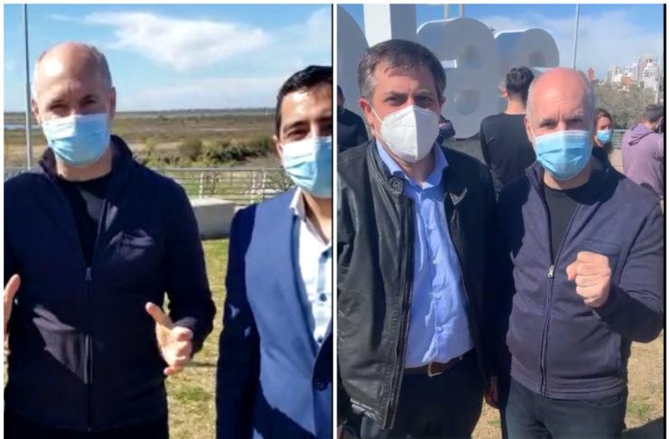Larreta se mostró con Lafalce y con Sancho, dos de los precandidatos locales que encabezan lista del PRO.