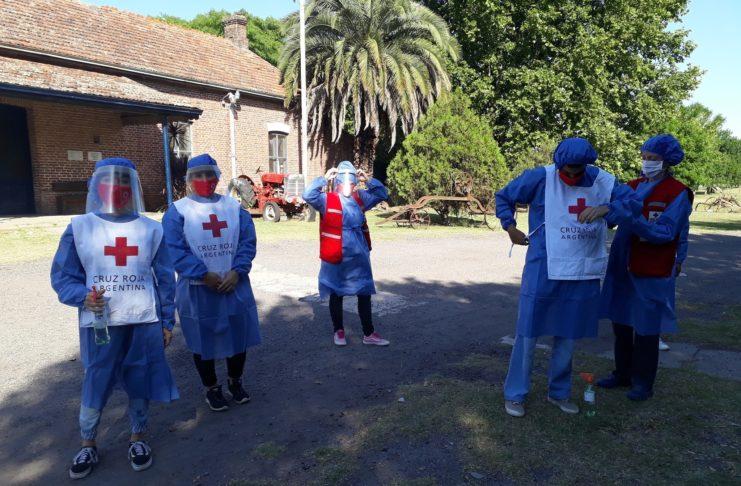 Los voluntarios de Cruz Roja montarán una carpa en el Paseo Público.