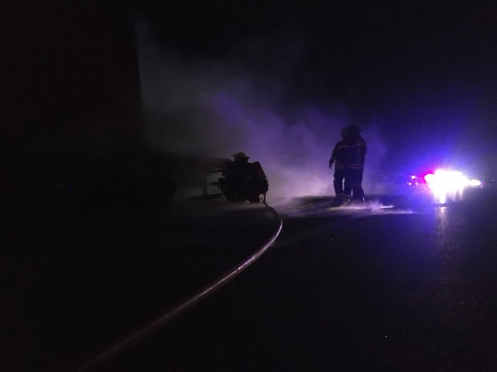 El incendio ocurrió en el km 168 de la ruta 9.