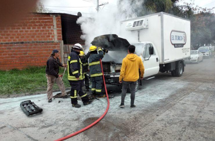 Bomberos intervino en el incidente.
