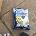 """La leche """"Santa Elene"""" por 800 gramos que se entrega en las cajas alimentarias escolares."""