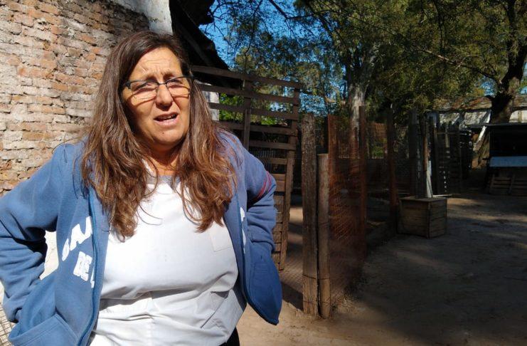 Cecilia Tarsetti encargada del refugio de San Pedro. Foto: La Opinión