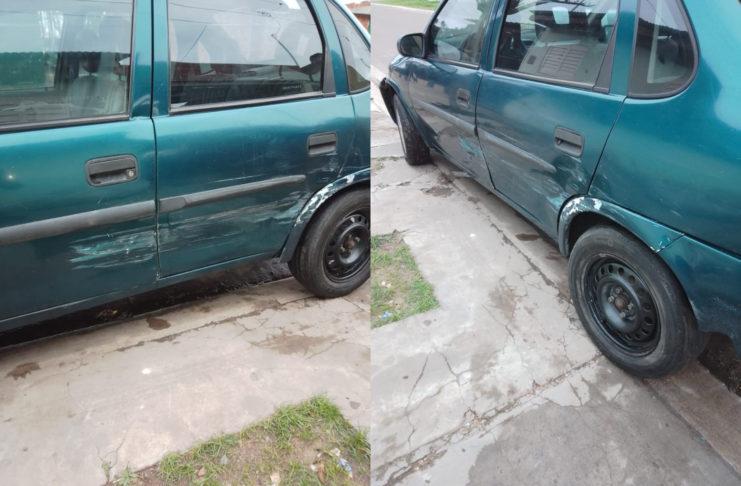 Así quedó el Corsa tras el accidente.