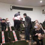 En la reunión estuvieron los concejales Otero, Tiramonti y Lafalce.