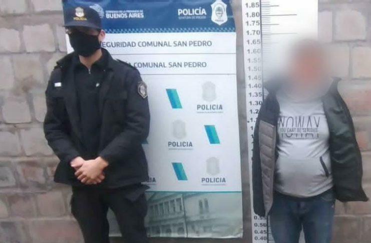 El detenido fue puesto a disposición de la Justicia.
