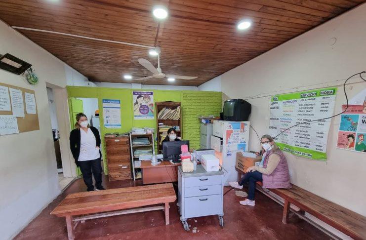 El personal del Centro de Salud Mateo Sbert.