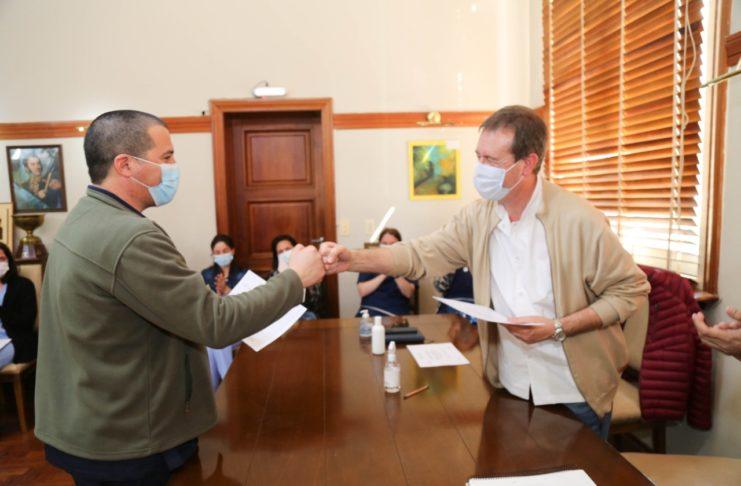 Sayago y Creus. Foto: Prensa Municipalidad.