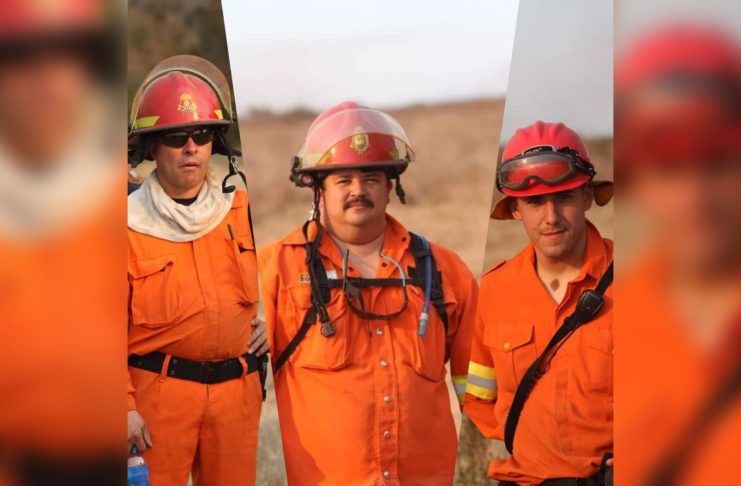 Mauro Raúl Arregi, Luis Silva y Luis Torrens obtuvieron el certificado de Combatientes Forestales.