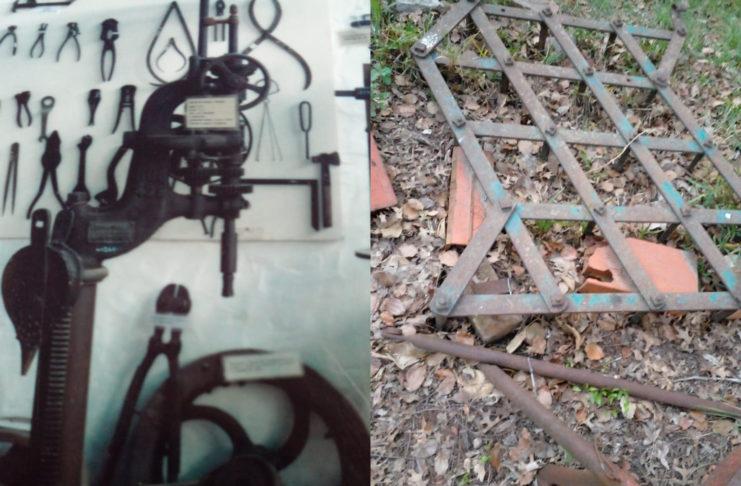 Se llevaron una gran cantidad de herramientas antiguas.