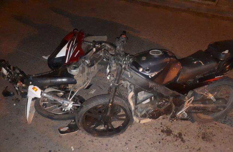 Así quedaron las motos tras el accidente.