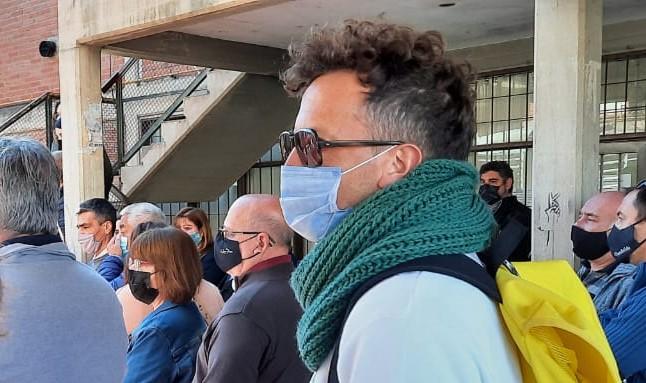 Iván Paz participó del homenaje a Nano Cajide el lunes pasado.