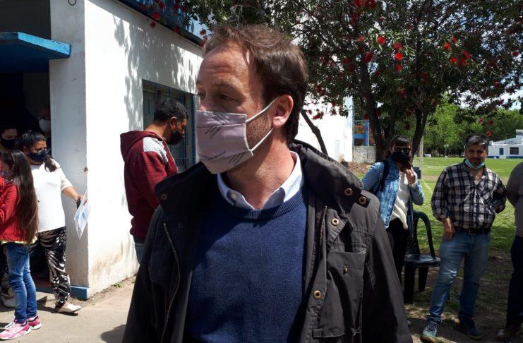 El ministro de Economía, Pablo López, estuvo en San Pedro este martes.