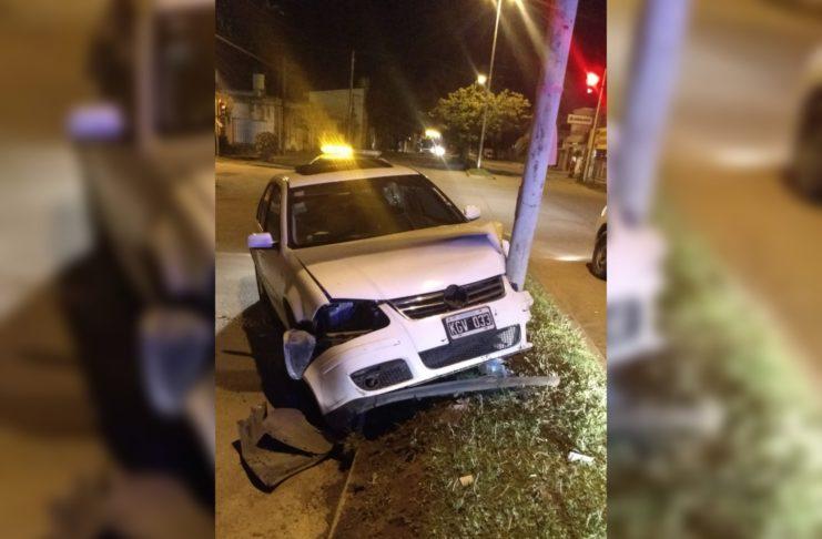 Así quedó el Volkswagen Bora tras el choque.
